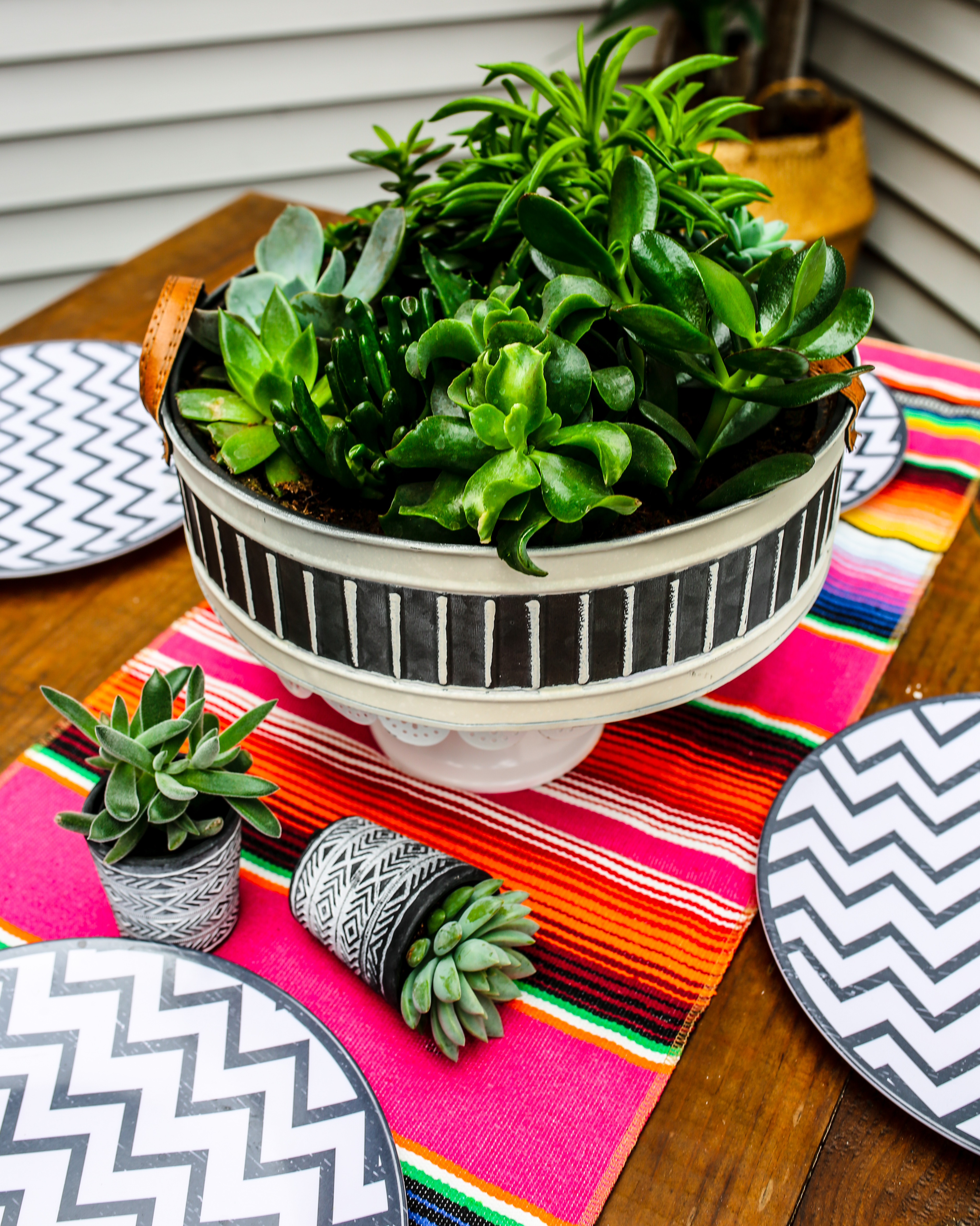 summer decorating with plants